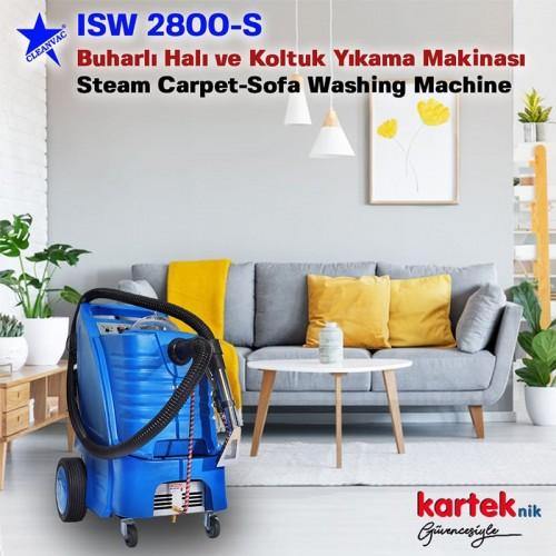 Cleanvac ISW 2800-S Buharlı Sıcak ve Soğuk Sulu Temizleme Makinası