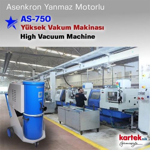 Cleanvac AS750 Asenkron Motorlu Endüstriyel Vakum Makinası